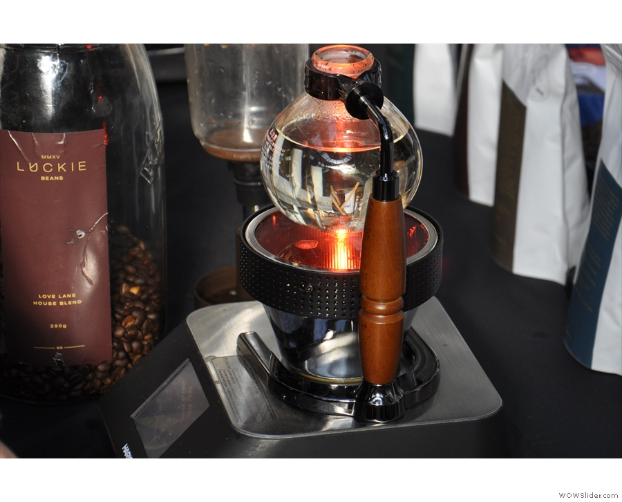 The syphon comes in two parts: this bowl, which holds the water & is heated...