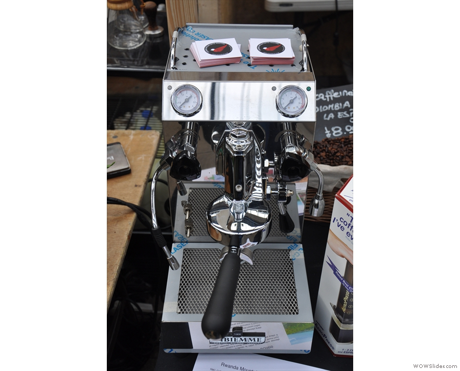 Talking of cute, how about this for a neat, one-group espresso machine?