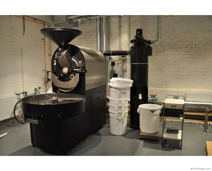 I'm talking about this roaster here, which should be swinging into production roasting soon.