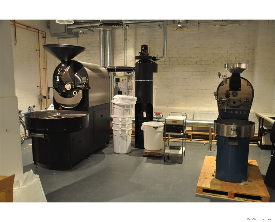 Dear Green were also moving into new premises at the same time. With a new roaster.