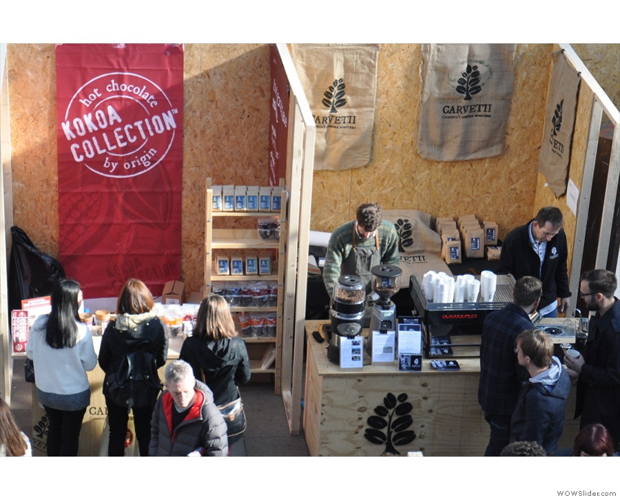 Look! Two of my favourite stalls at any coffee festival, side-by-side!