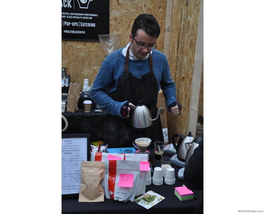 I was too caffeinated to try any. However, I love the spectacle of pour-over...