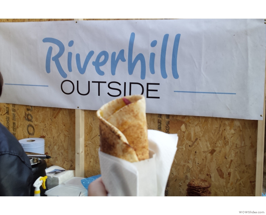 ... so I had this excellent vegetarian wrap from Riverhill Outside.