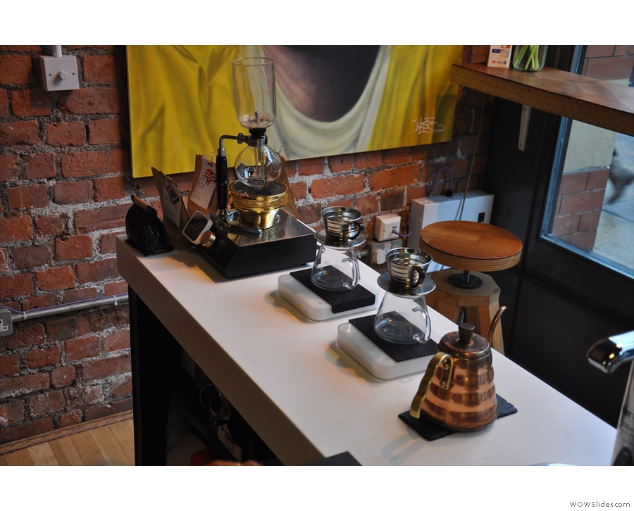 Talking of which, Grindsmith's always been strong on its brew-bar: Kalita & Syphon on offer.