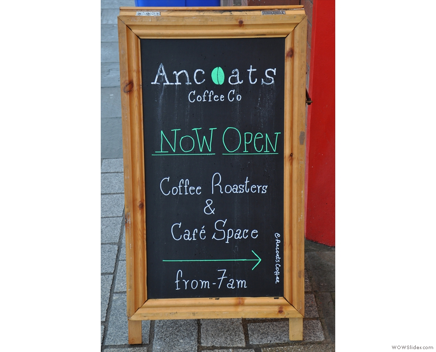 ... and more importantly, lets us know that Ancoats is open for business!