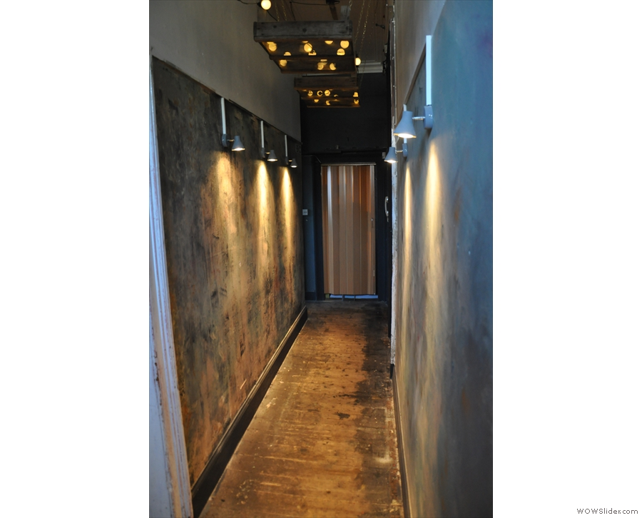 The corridor has an unfinished look, don't you think?