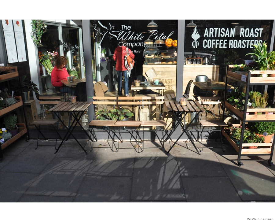 Hint: it's both. Nice outdoor seating by the way, although the street's very busy...