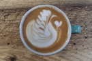 That latte art is worth a second look, don't you think?