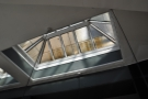 Talking of lighting, back out front, there's this skylight which makes the front even brighter.