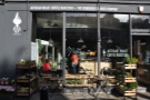 On the sunny side of Edinburgh's Raeburn Place, is it a florists? Or a coffee shop? Or both?