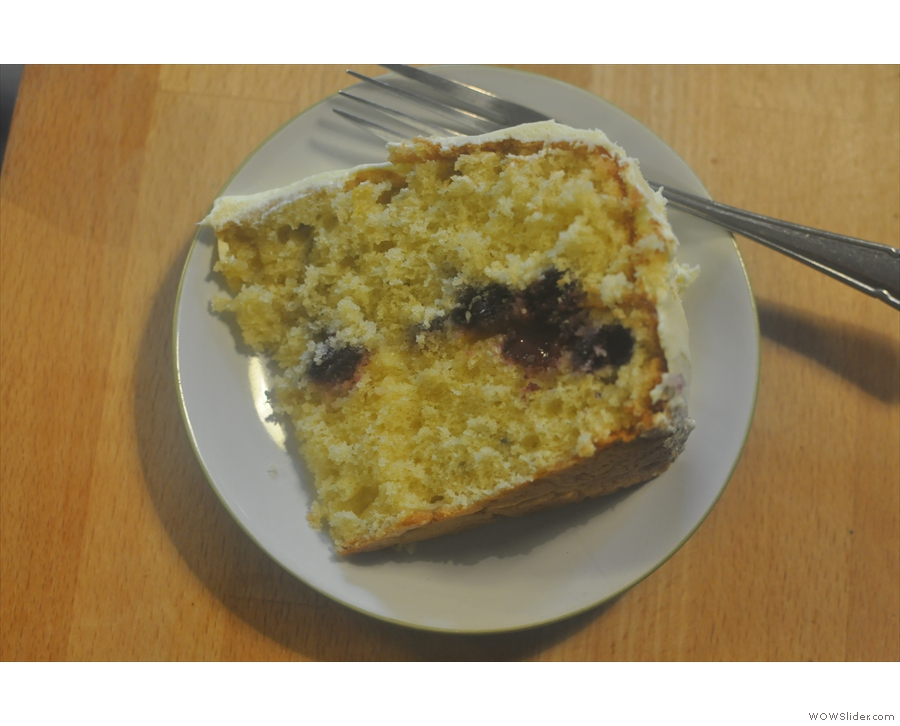 ... and followed that up with a slice of lemon cake. Not much changes, does it?
