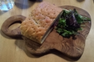 I had a rather out-of-focus sea salt and rosemary flat bread for lunch...