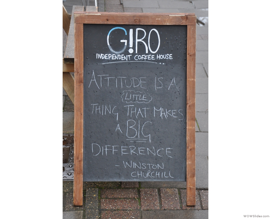 Giro is quite well-known in social media circles for its inspirational A-boards...