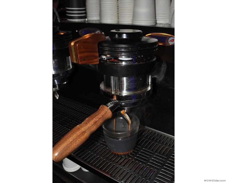 Here comes the espresso...