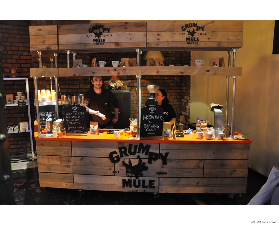 Let's end Part II with a visit to my friends at Grumpy Mule. Who look far from grumpy...