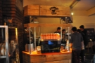 The espresso side of the Grumpy Mule stand.