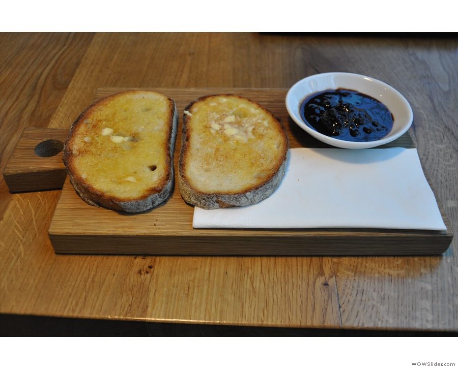 You can't really beat toast, lovely, hot toast, smoothered in butter.