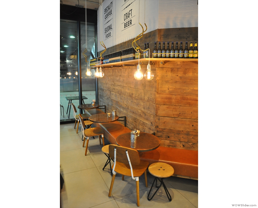 There are also these tables/benches, familiar from Notes Kings Cross, on the other wall.