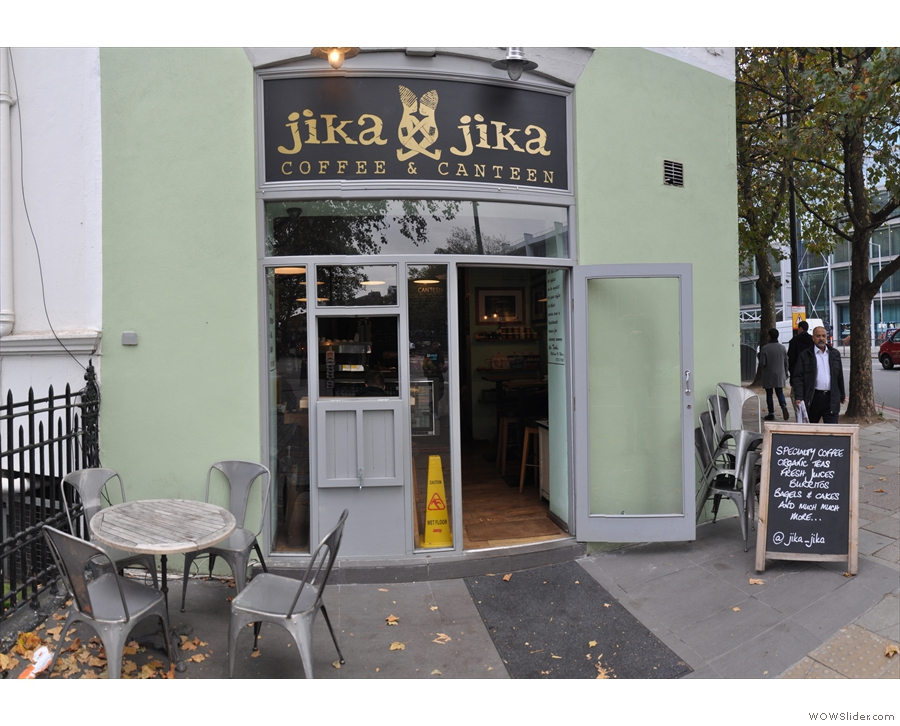 Jika Jika, door on the right and what looks like it was once a serving hatch on the left.