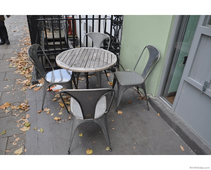 If you want to sit outside, there's just the one table.