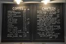 ... and an impressive coffee menu and an even more impressive food menu.