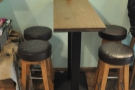 The bar stools are more comfortable than they look!