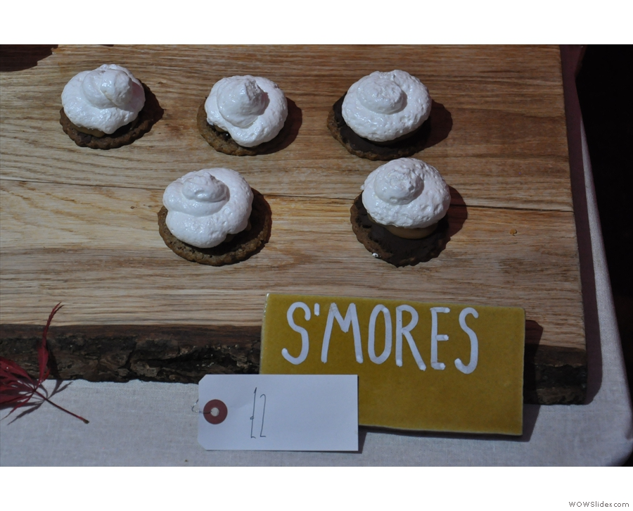 I can't leave without a look at the synonymous s'mores. Pasty little fellows, aren't they?
