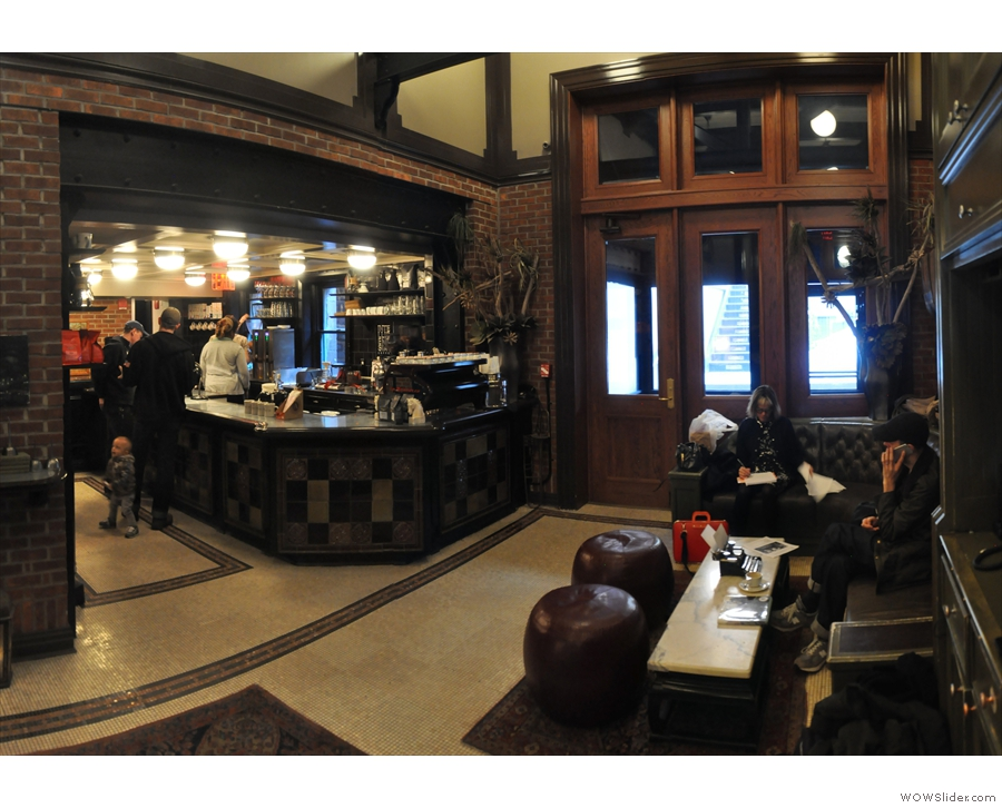 The Intelligentsia coffee bar is not actually until the far end, on the left...