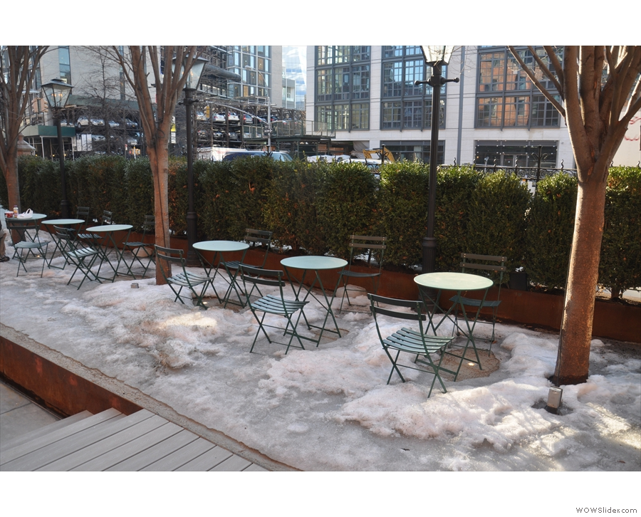 ... although I'm not sure that the outside seating was open during my visit.