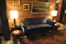 There are also threee sofas. For example, there's this one on the left as you first enter...