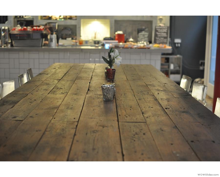 November: this huge, communal table lives at Manchester's Pot Kettle Black.