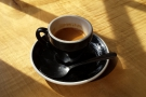 May: a lovely espresso in the spring sunshine at Greenstreet, Philadelphia.
