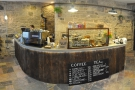 October: a lovely counter, using 150 year old reclaimed wood, at The Milkman, Edinburgh.