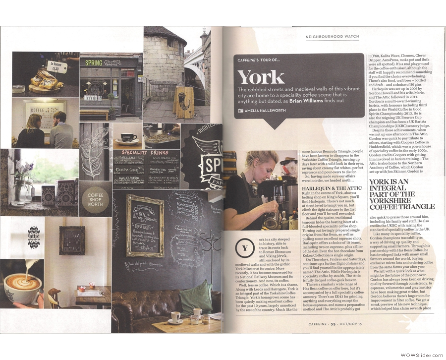 Finally, Amelia & I went to York, to discover the truth behind the Yorkshire Coffee Triangle.