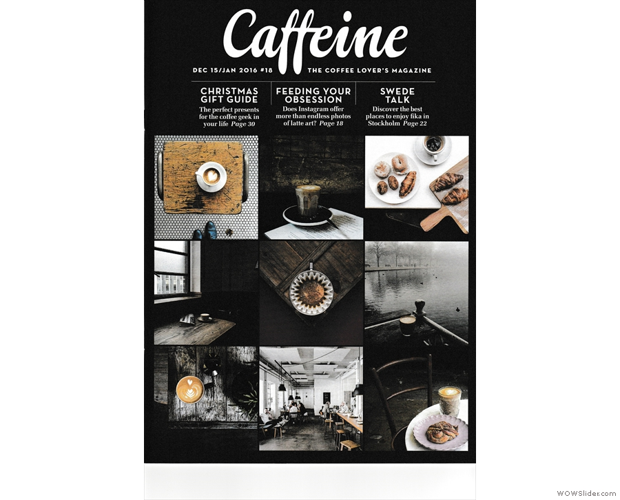Issue 18: a grid of photos from Caffeine Magazine's Instagram feed graces the cover.