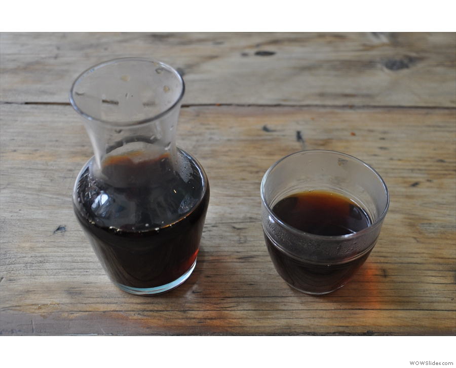 No, I'd decided to go for the filter, a Colombian from locals Outpost, through a Chemex.