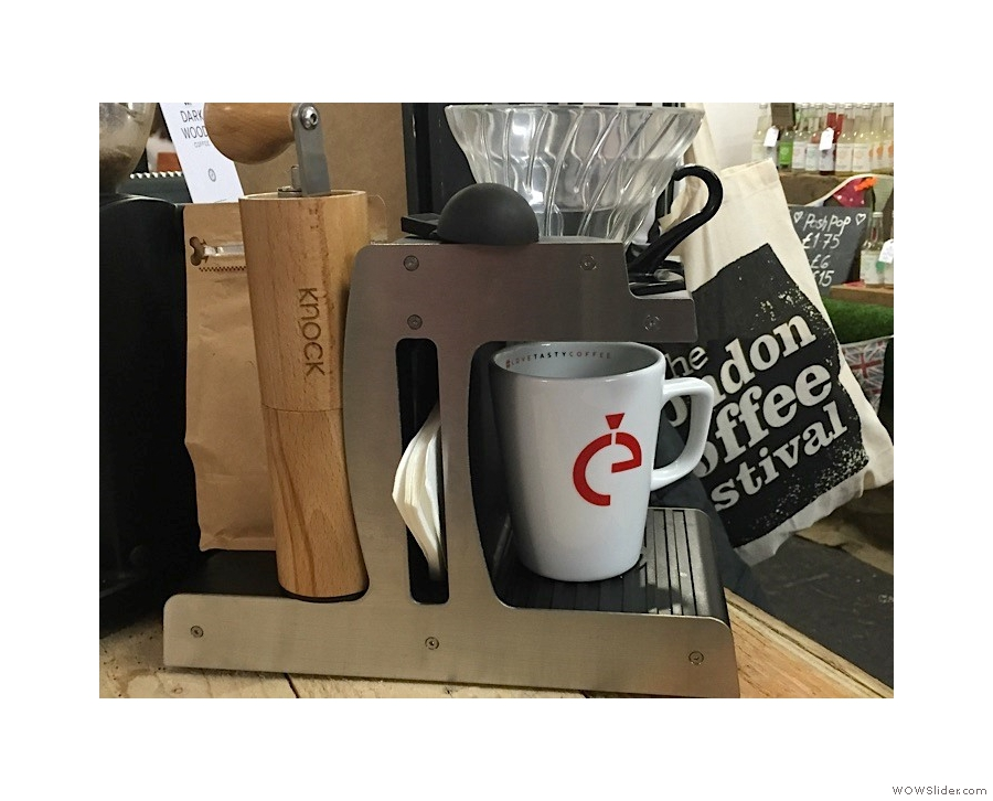 You should also consider the handy CoffeEasy Brew Stand.