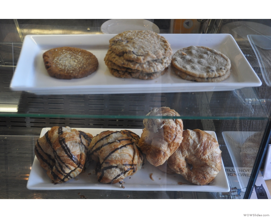 There are cookies and pastries too.