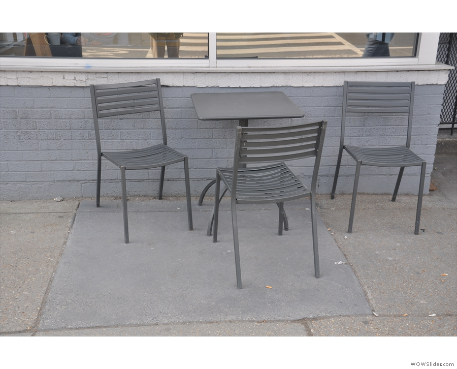 ... as is the limited outdoor seating.
