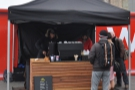 Serving coffee in all weathers outside King's Cross Station. It's Noble Espresso.