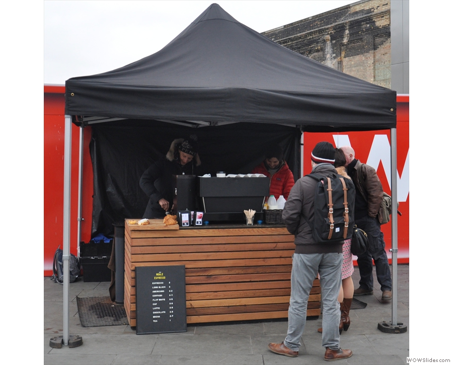 Noble Espresso, just outside the back of King's Cross and a boon for many a traveller.