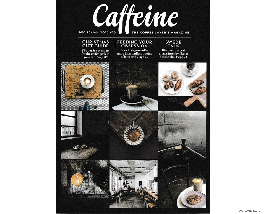 A perennial contender for Best Saturday Supplement: Caffeine Magazine.
