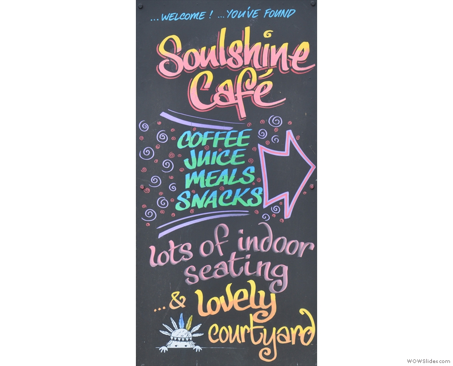 Bridport's Soulshine Cafe has a large, sheltered, sunny garden at the back.
