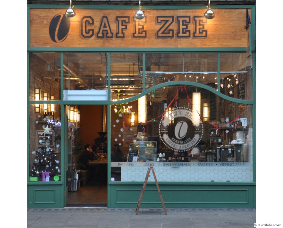 Cafe Zee, home of both the almond Struffin and the chocolate Cruffin. Cake heaven!