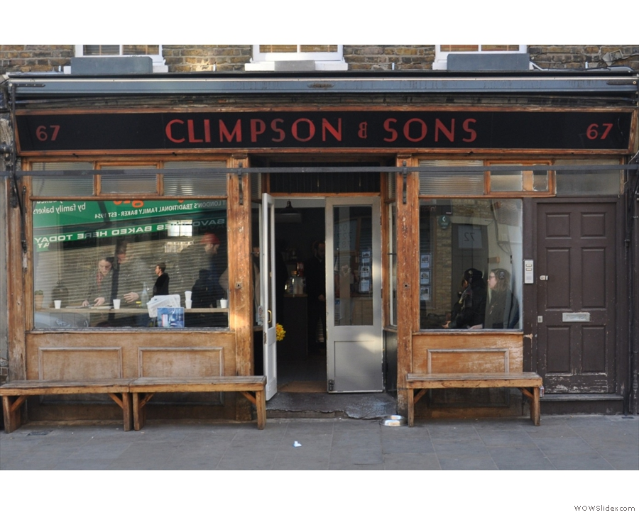 Climpson and Sons Cafe in Broadway Market, something of a fixture on the London scene.