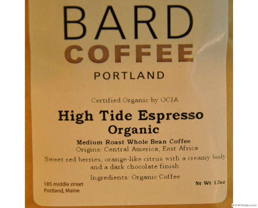 In June, I was back in the USA, with a first visit to Portland (Maine) and  Bard Coffee.