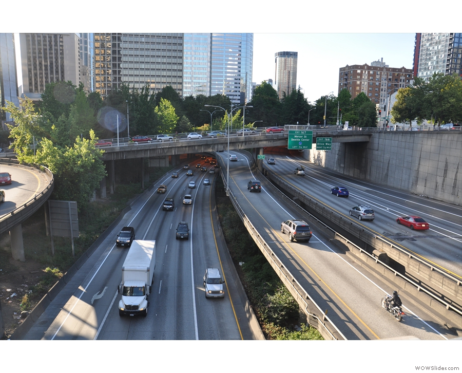I-5, slicing right through the heart of the city.