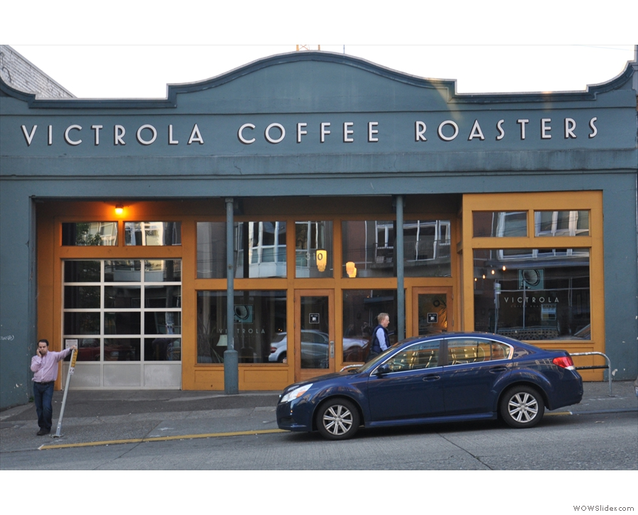 My final stop of the day: Victrola Coffee Roasters on Pike Street...