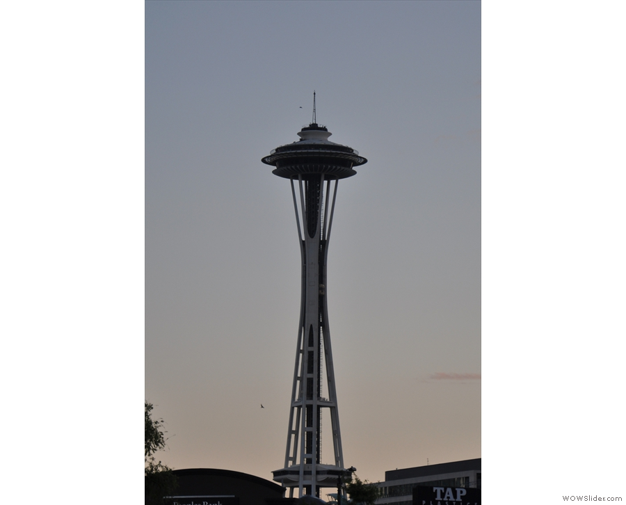 I ended up near the famous Seattle Space Needle. I didn't have time to go up this year.