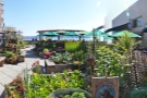 If you can, though, head outside to the urban garden.